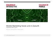 Mobile Marketing heute und in Zukunft - Marketing on Tour