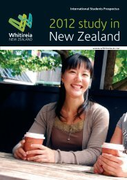 Whitireia International Students Prospectus 2012