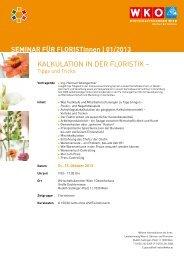 KalKulation in der FloristiK – - ihr-florist