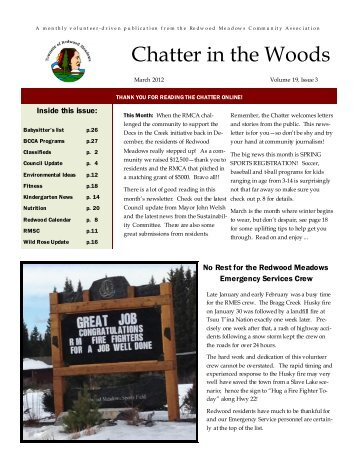 March 2012 (PDF) - Townsite of Redwood Meadows
