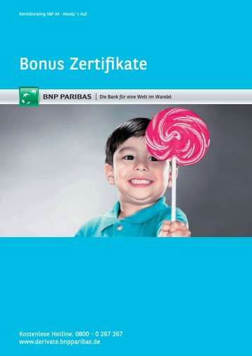 Bonus Zertifikate - Deutscher Derivate Verband