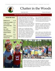September 2013 Chatter - Townsite of Redwood Meadows