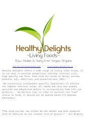 Healthy delights price list Feb 2013[1] - Townsite of Redwood ...