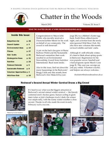 March 2013 Chatter - Townsite of Redwood Meadows