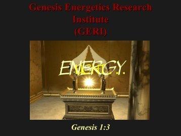 Genesis Energetics Research Institute - 3 Angels Radio