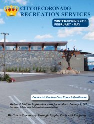 RECREATION SERVICES - City of Coronado