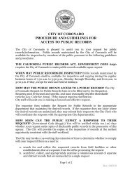 city of coronado procedure and guidelines for access to public records