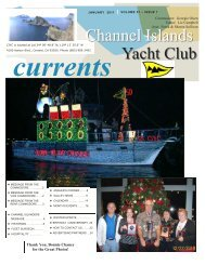 January 2011 - Channel Island Yacht Club