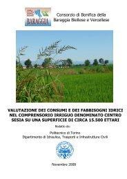 Consorzio di Bonifica della Baraggia Biellese e ... - idrologia@polito