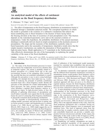 An analytical model of the effects of catchment ... - idrologia@polito