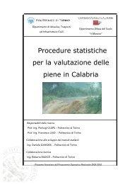 Procedure statistiche per la valutazione delle ... - idrologia@polito