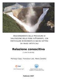 Relazione conoscitiva - idrologia@polito - Politecnico di Torino
