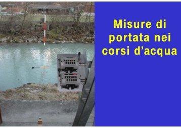 Misure di portata nei i d - idrologia@polito