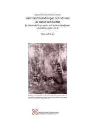 Samhällsförändringar och vården av natur och kultur - SLU