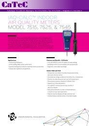 iaq-calc™ indoor air quality meters model 7515, 7525, & 7545