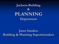 Planning and Zoning and Stormwater Concerns - Jackson, MO