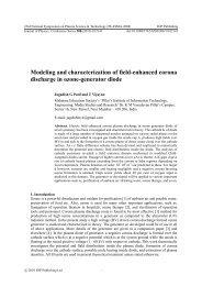 Modeling and characterization of field-enhanced corona discharge ...
