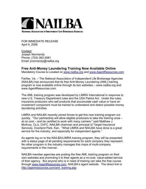 Free Anti-Money Laundering Training Now Available Online