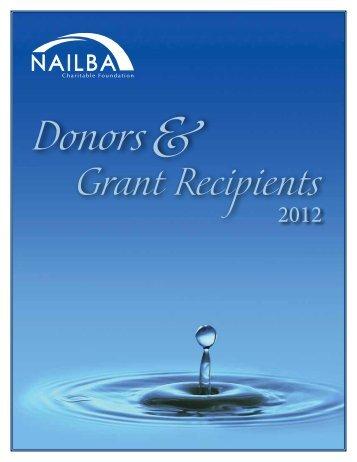 2012 grant recipients - Nailba