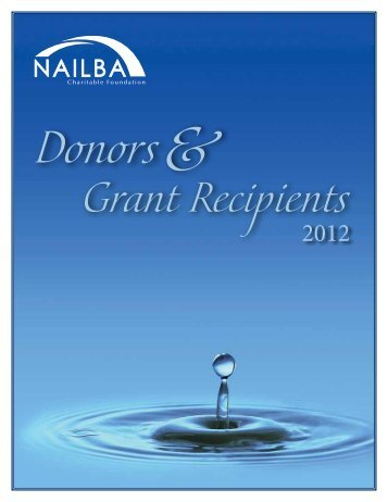 2012 grant recipients - Nailba