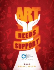2009 Annual Report - Arts and Education Council