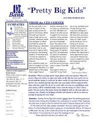2012 1 Jan Feb March - PBK Bank
