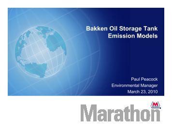Bakken Oil Storage Tank Emission Models