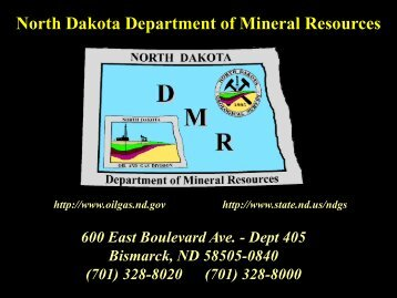 North Dakota Department of Mineral Resources