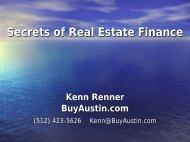 Secrets of Real Estate Finance