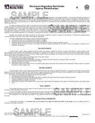 Disclosure Regarding R.E. Agency Relationship - 02/01 (MAR)