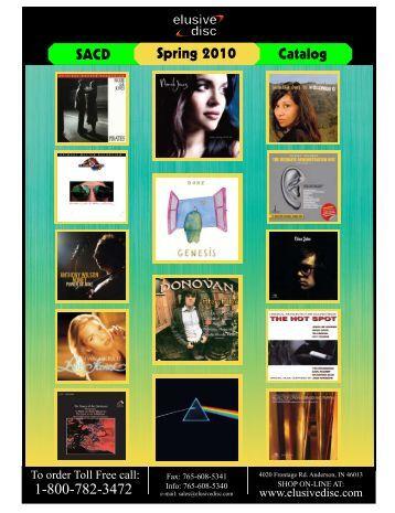 1-800-782-3472 Spring 2010 Catalog SACD - Elusive Disc