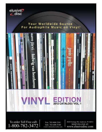 2012 Vinyl Catalog - Elusive Disc