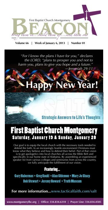 January 6, 2013 - First Baptist Church of Montgomery