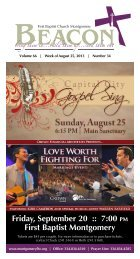 August 25, 2013 - First Baptist Church of Montgomery