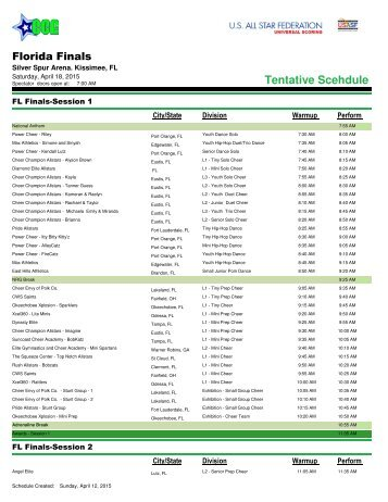 Florida-Finals-2015-Schedule