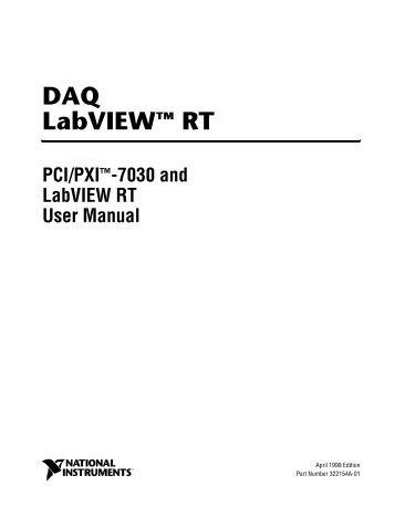 PCI/PXI-7030 and LabVIEW RT User Manual - National Instruments
