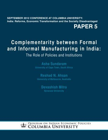 paper 5 - Program on Indian Economic Policies - Columbia University