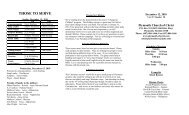Plymouth Church Of Christ Bulletin for 2010-12-12