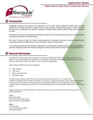 High Powed Pulsed Laser Delivery Application Notes