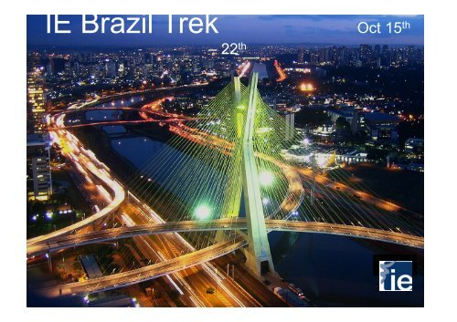 Brazil Trek_July 20th - Careers Blog - IE