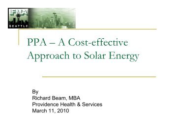PPA – A Cost-effective Approach to Solar Energy - IFMA Seattle