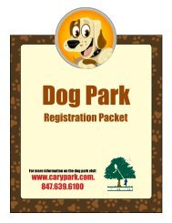 Registration Packet - Cary Park District