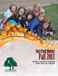 Fall 2013 - Cary Park District