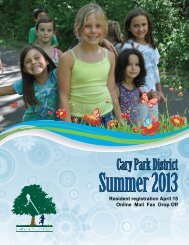 Summer 2013 - Cary Park District