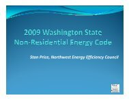2009 Washington State Non-Residential Energy Code - IFMA Seattle