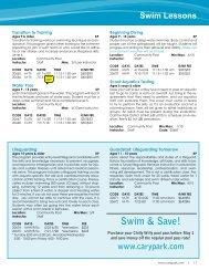 Swim Lessons - Cary Park District
