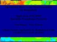 Application of ECMWF Ensemble Precipitation Forecasts - HEPEX