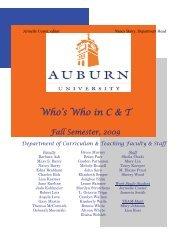 Recent Publications - College of Education - Auburn University