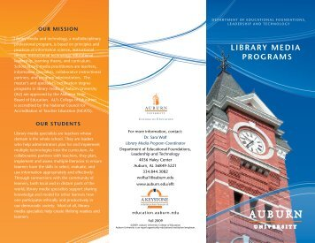 490KB - College of Education - Auburn University