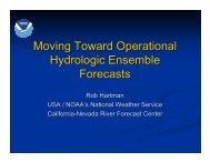 Moving Toward Operational Hydrologic Ensemble Forecasts